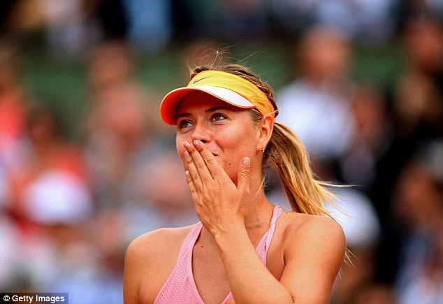 Sharapova-enters-French-Open-semifinal-after-defeating-Muguruza