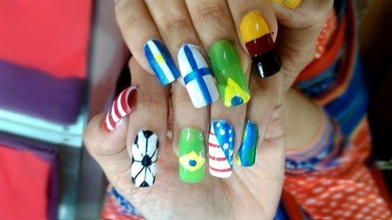 Fifa fever grips fashionistas, From nails to hair