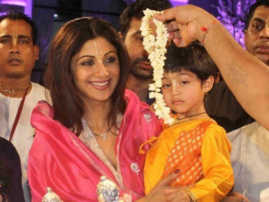 Shilpa, Raj and Their Little Govinda Celebrate Janmashtami