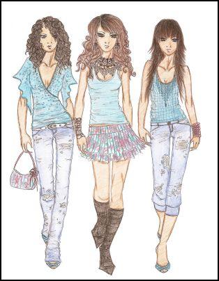 Fashion sketches 3