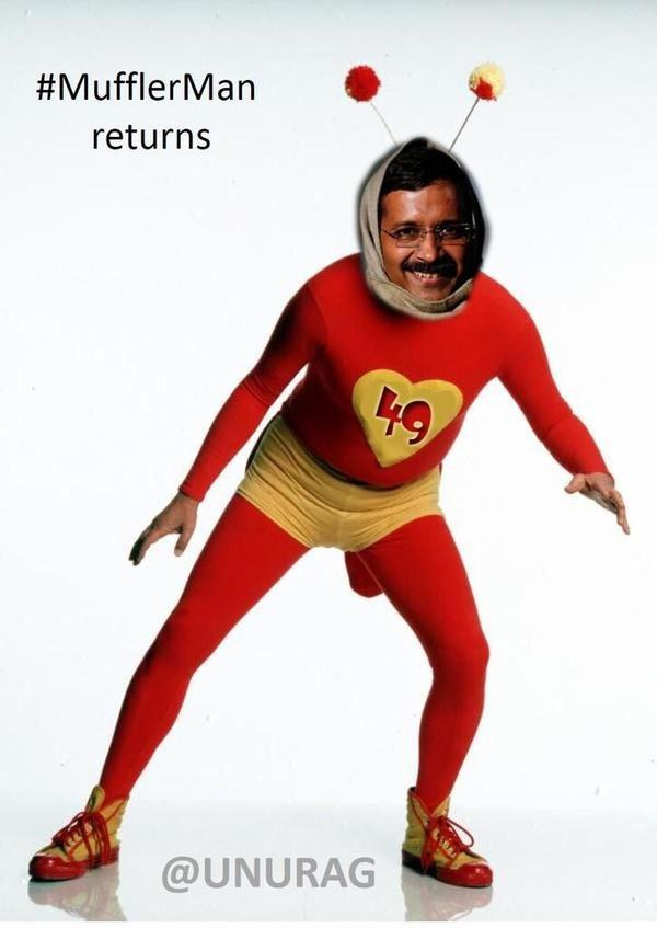 The Hilarious Avatars Of Muffler Man Kejriwal Shared On Social Media