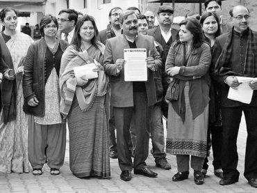 BJP files police complaint against AAP leader Vishwas