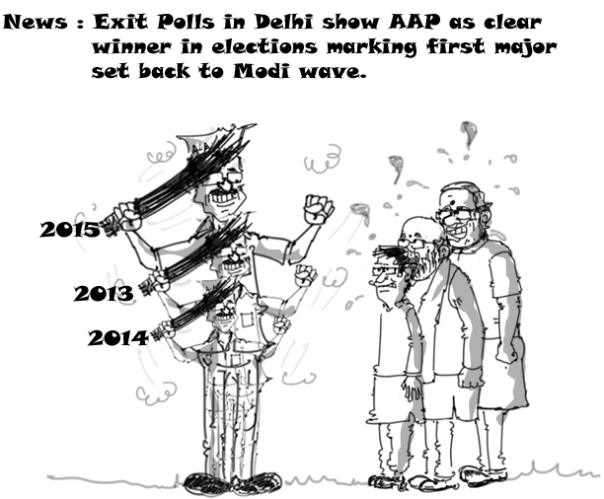 cartoon-on-aap-vs-bjp-delhi-elections-2015