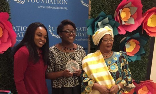 Joyce Banda presents UN award to Girl Up Advocate: International Women's Day