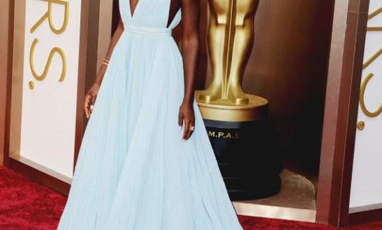 Fake pearls or not, Lupita Nyongo's Oscar dress made a mark