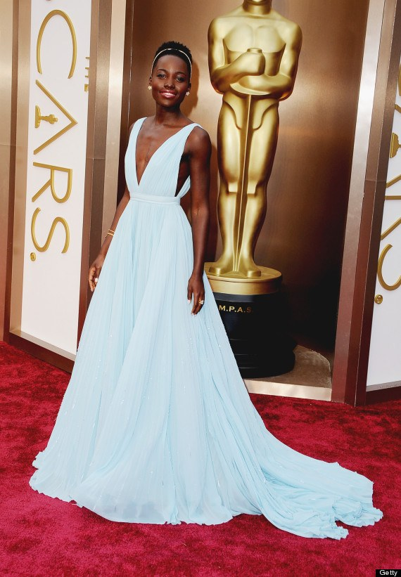 Fake pearls or not, Lupita Nyongo's Oscar dress made a mark