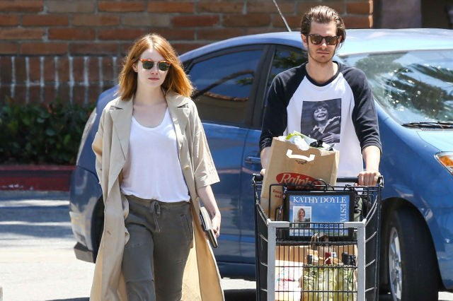 Finally Emma Stone and Andrew Garfield Photographed back together again