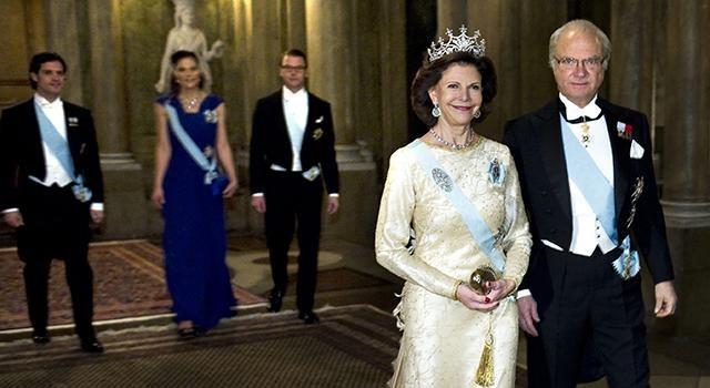The King carl gustaf and Queen silvia host visit Dalarna County