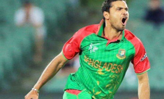 India vs Bangladesh World Cup 2015 Mashrafe Mortaza people player