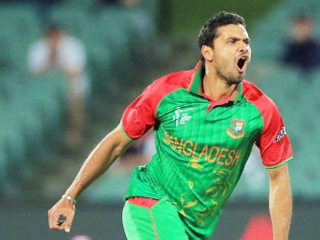 India vs Bangladesh World Cup 2015 Mashrafe Mortaza people player