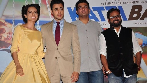 Katti Batti couple Kangna Ranaut Imran Khan launch trailer first then party hard