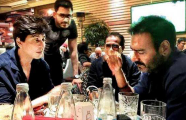 Shah-Rukh-Khan-and-Ajay-Devgn-Bond-Over-dinner-together-in-Bulgaria