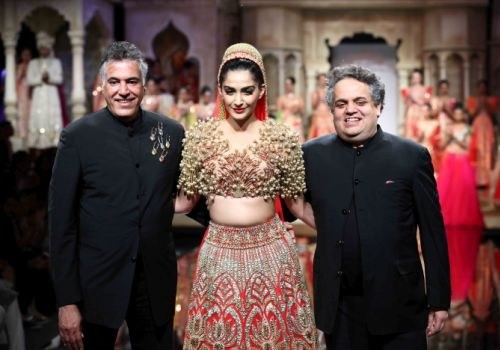 Sonam Kapoor Opens for designer Abu Jani and Sandeep Khosla at BMW India Bridal Fashion Week