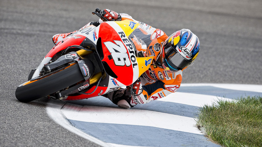 Motorcycle-Racer-Dani-Pedrosa-Takes-50th-GP-Win-At-Motegi