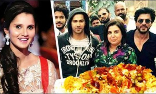 Sania Mirza throws biryani party for Shah Rukh Khan Kajol also Dilwale Team