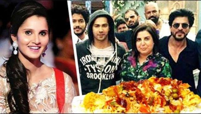 Sania Mirza throws biryani party for Shah Rukh Khan Kajol also Dilwale Team