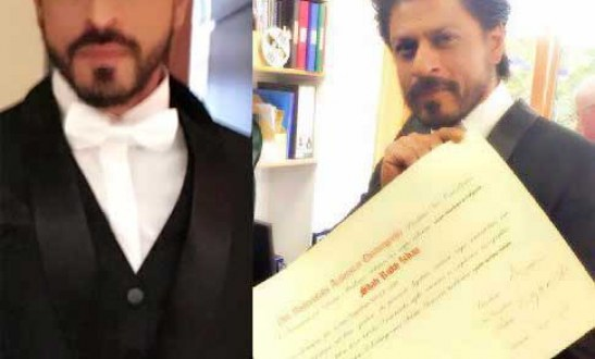 Shah Rukh Khan becomes doctor conferred with Honorary degree at the Edinburgh University
