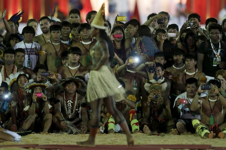 Brazil Hosts Indigenous Beauty Parade To Celebrate 'Facial Features, Body Types and Adornments'