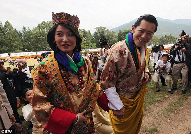 Bhutan King Jigme Khesar Namgyel Wangchuck and Queen Jetsun Pema known as the William and Kate of Himalayas