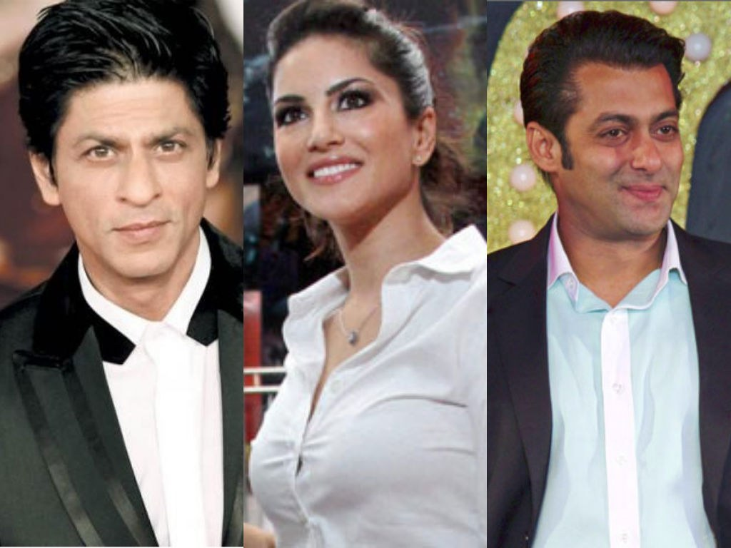 Bollywood actress Sunny Leone keen to play teen patti with Shahrukh Khan Salman Khan