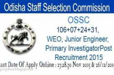 Odisha Staff Selection Commission 2015 hiring: Total 106 posts
