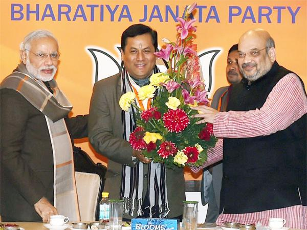 BJP-CM-Candidate-Sarbananda-Sonowal-In-Poll-Bound-Assam