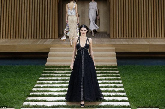 Kendall Jenner And Gigi Hadid Stun In Chanel Doll House Theme Paris Fashion Week