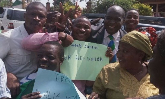 Sierra Leone Politician And Presidential Aspirant Alie Kabba Surprised Court Appearance