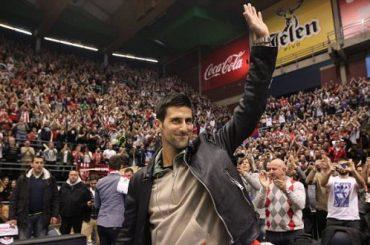 Tennis Maestro Novak Djokovic Cheers On His Belgrade Basketball Team On Rapturous Serbia