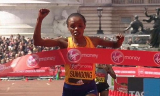 Jemima Sumgong Wins London Marathon Despite Heavy Fall