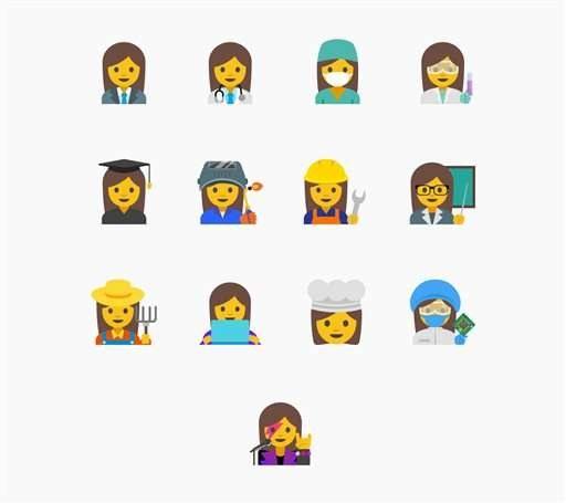 Google wants new emojis to represent professional women