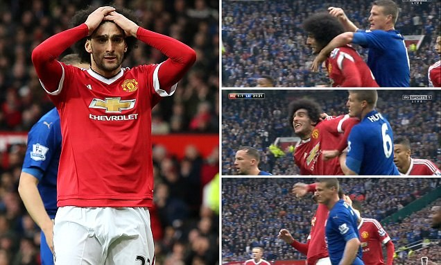 Hair Brained: Fellaini And Huth Facing Bans After Violent Clash As LVG Asks TV Man