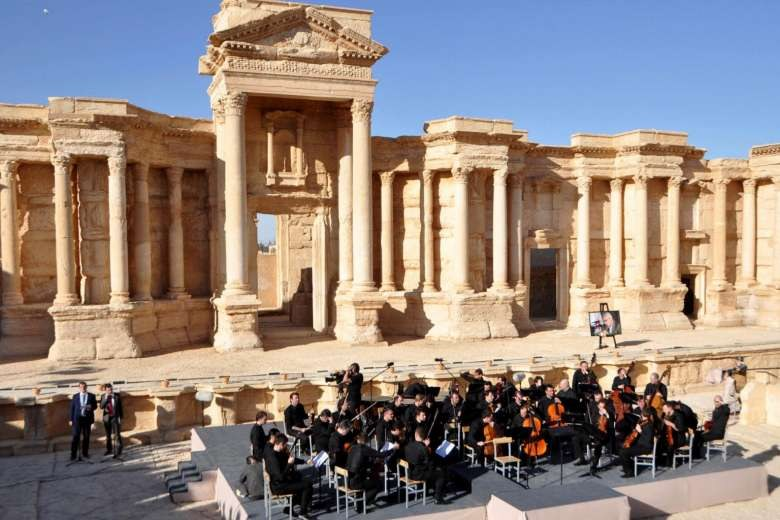 Russian Orchestra Performs In Syria War-Scarred Palmyra