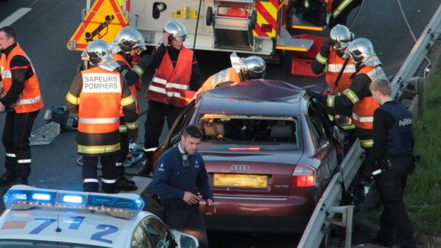Smugglers-People-In-British-Car-Shot-In-Chase-In-France
