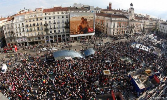 Thousands Mark 5th Anniversary of Indignados Movement