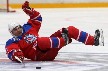 Vladimir Putin Falls During Ice Hockey Game In Russia