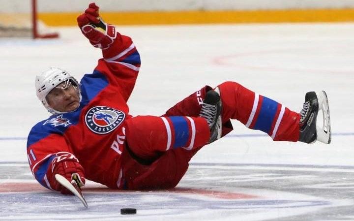 Vladimir Putin Falls During Ice Hockey Game In Russia