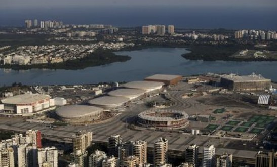 Work halted on some Olympic projects 88 days before games