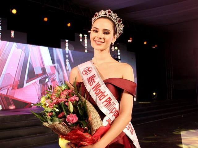 Model Catriona Gray's Wins Miss World Philippines 2016