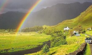 How the Rainbow Illuminates behind also physics