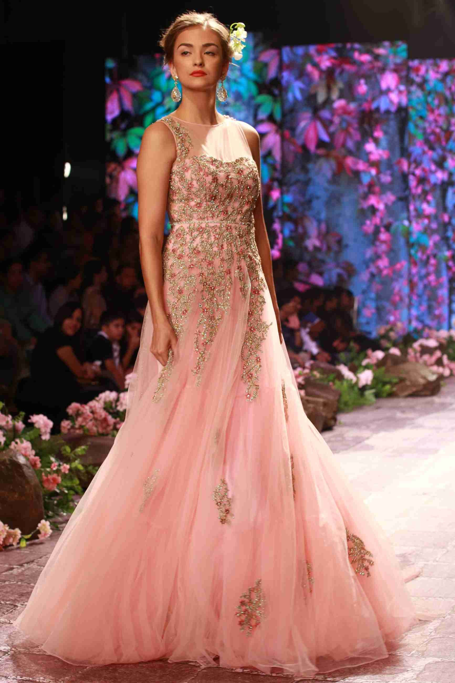 "Designer Jyotsna Tiwari's latest collection ""The Secret Garden"""