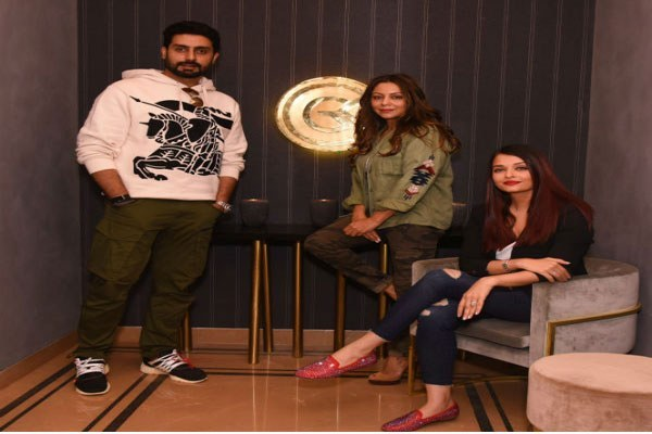 Aishwarya Rai and Abhishek Bachchan visited Gauri Khan's store on 31st December