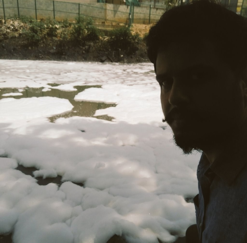 Fake Ice lake the Bellandur Lake Bengaluru, Threat to Indian Environment